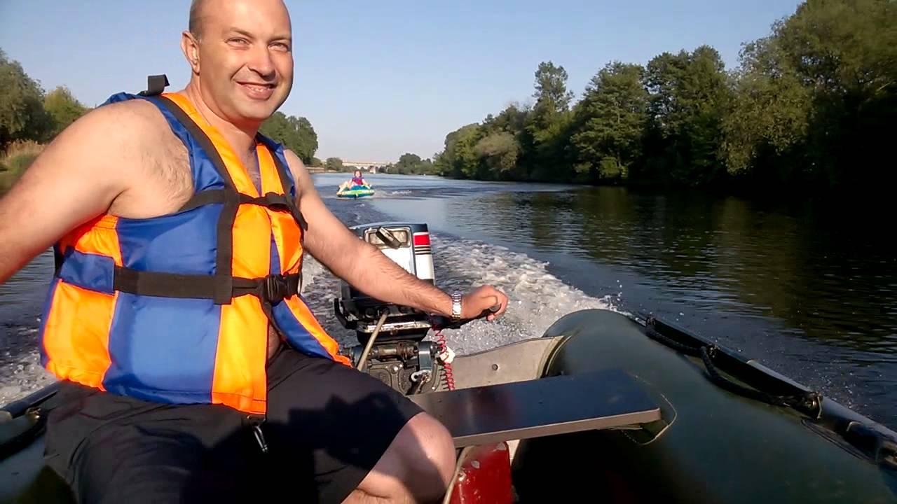 катание на лодке с мотором видео