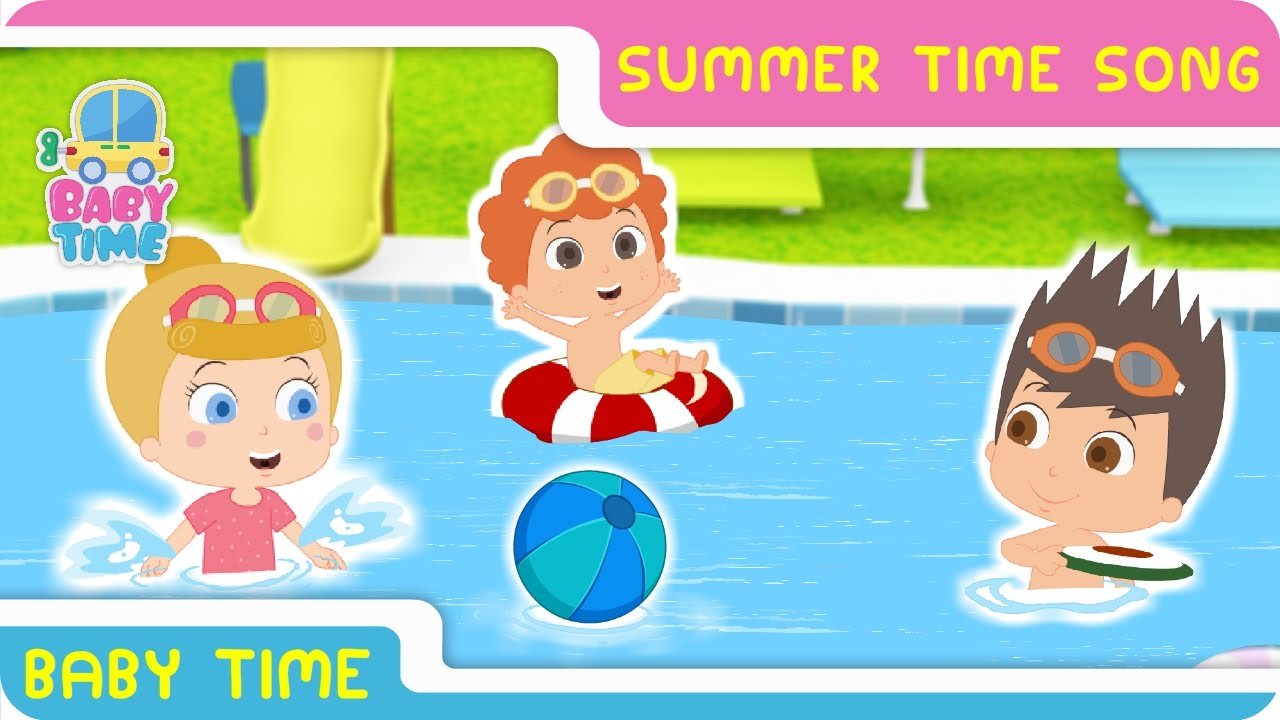 Summer Time Songs With Lyrics | Kids Play Time | Nursery Rhymes For ...