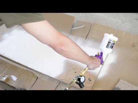 "Spray Benjamin Moore Advance with Harbor Freight ""Purple"" HVLP Spray Gun"