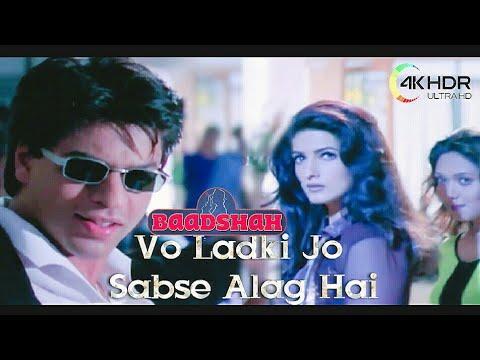 Wo Ladki Jo Sabse Alag Hai   Shahrukh Khan Songs   Twinkle Khanna Songs   Abhijeet Songs  Ultra HD S