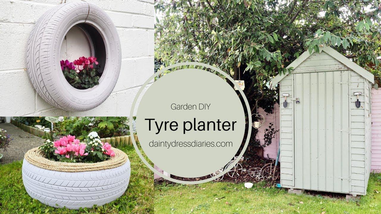 Tyre Planter DIY And A Walk Around My Garden