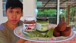 อดข้าว24ชั่วโมงกิน Nutella ชาเขียว vs ไอติมช็อกโกแลต vs ชาเขียวแท่ง (ช็อกโกแลต vs ชาเขียว)