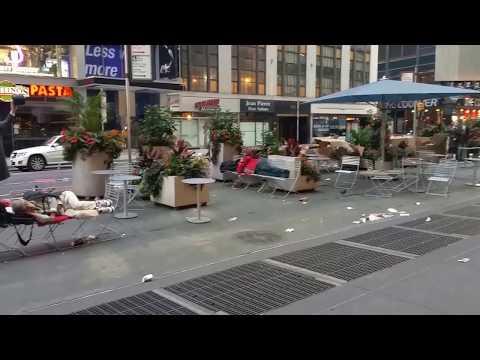 homeless people taking over broadway manhattan
