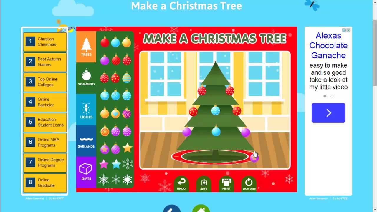 Make a Christmas Tree _ abcya _ cool math - YouTube