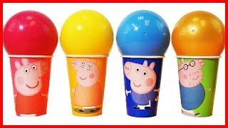 佩佩豬粉紅豬小妹杯子驚喜玩具出奇蛋拆拆樂,還有培樂多彩泥黏土手工