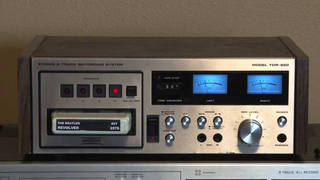 Marantz SuperScope TDR-820 Stereo 8 Track Tape Deck Player ...