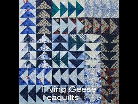 Quilt Block Flying Geese From Strips Youtube