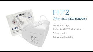 AIXINE FFP2 Face Mask 1 piece pack in German text