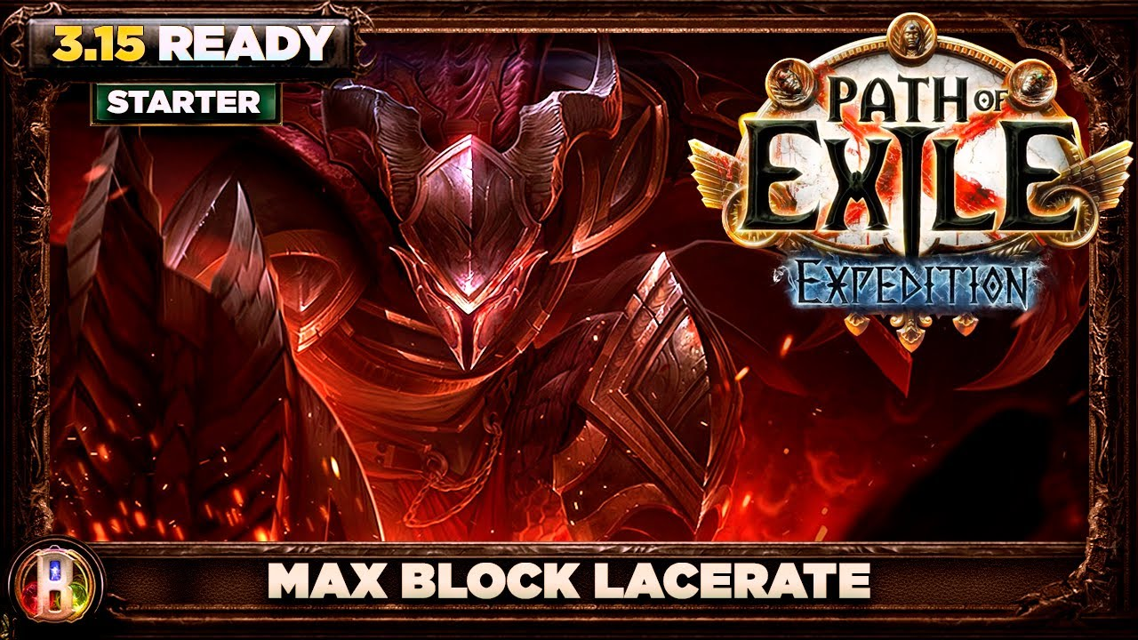Path of Exile 3.11 - Max Block Lacerate Build - Gladiator Duelist - PoE Harvest - PoE 3.11