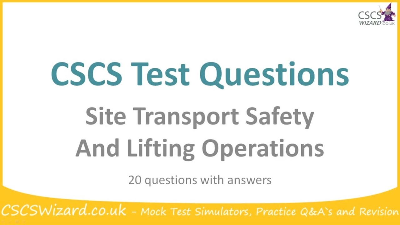 cscs supervisor mock test