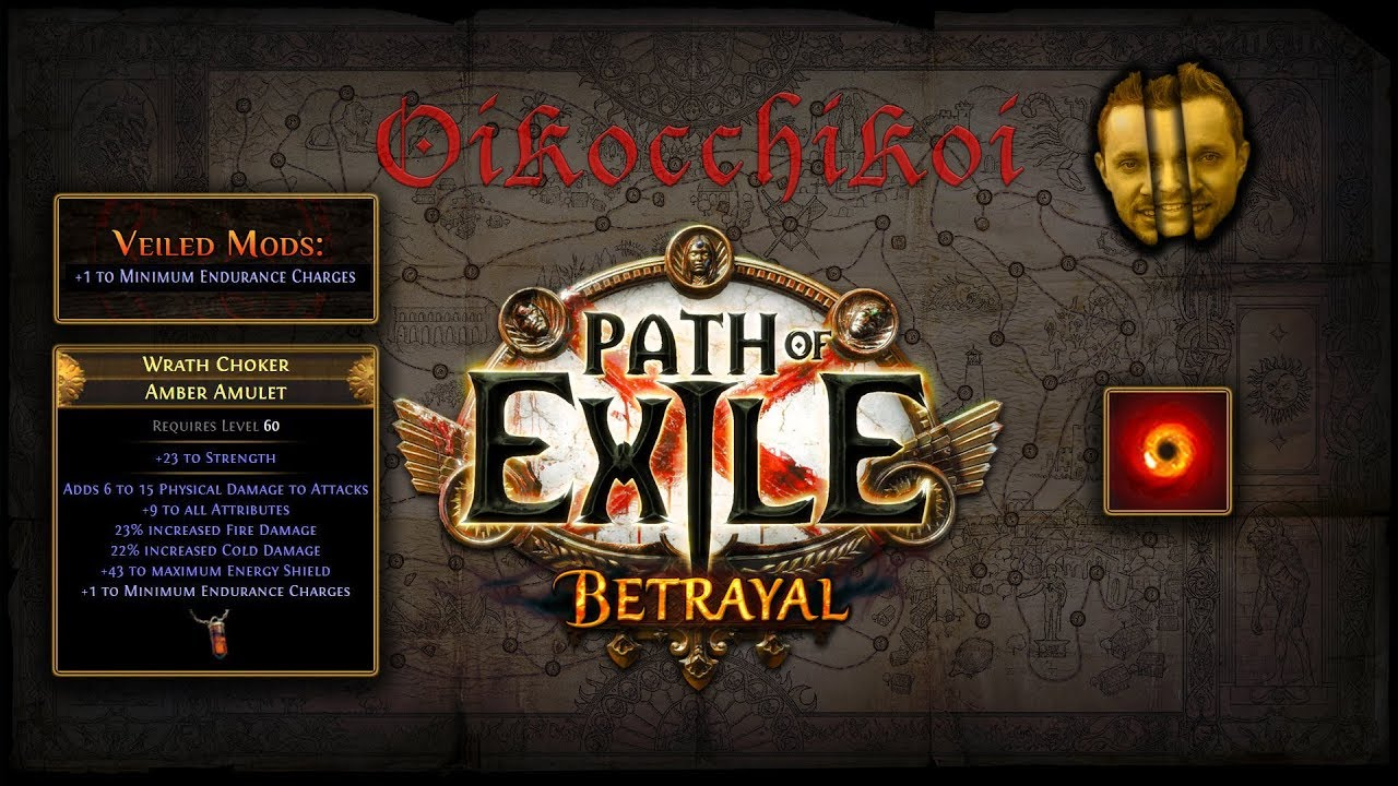 Veiled Mods +1 to Minimum Endurance Charges : Path of Exile - Betrayal