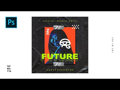 Create Future Social Media Post Design In Photoshop - Photoshop Tutorials