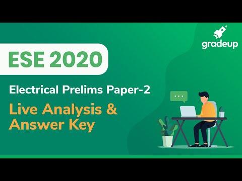 ESE 2020 Prelims Analysis | Paper 2 | ESE 2020 Answer Key | Electrical Engineering | Gradeup