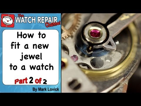 Fitting a new jewel to a watch. Part 2 of 2. Friction fit balance jewel hole is broken. Omega watch.