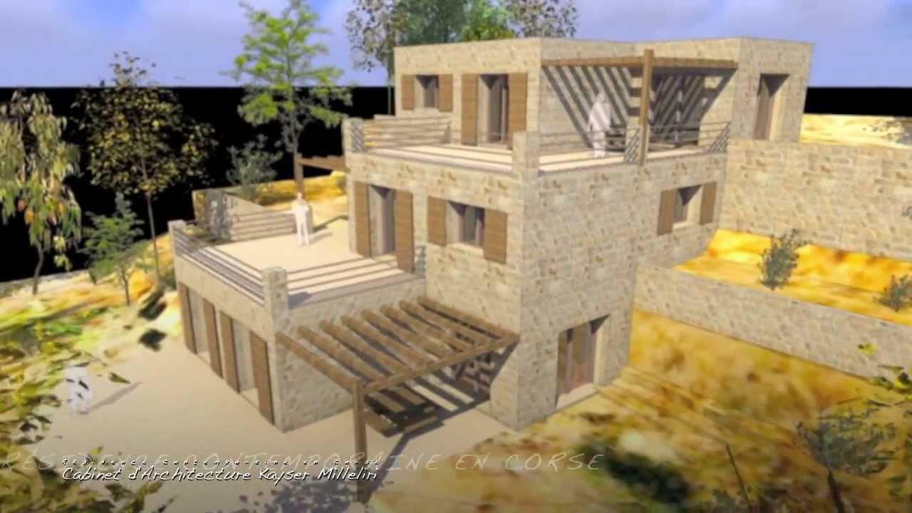 architecture architecte dplg en corse projet contemporain infographie 3d ecologie image de. Black Bedroom Furniture Sets. Home Design Ideas