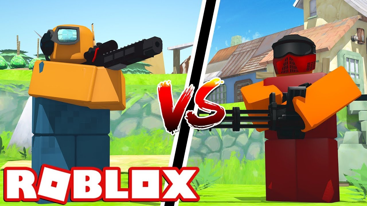 Railgunner Vs Commando Roblox Tower Battles Youtube