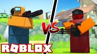 RAILGUNNER VS COMMANDO - Roblox Tower Battles