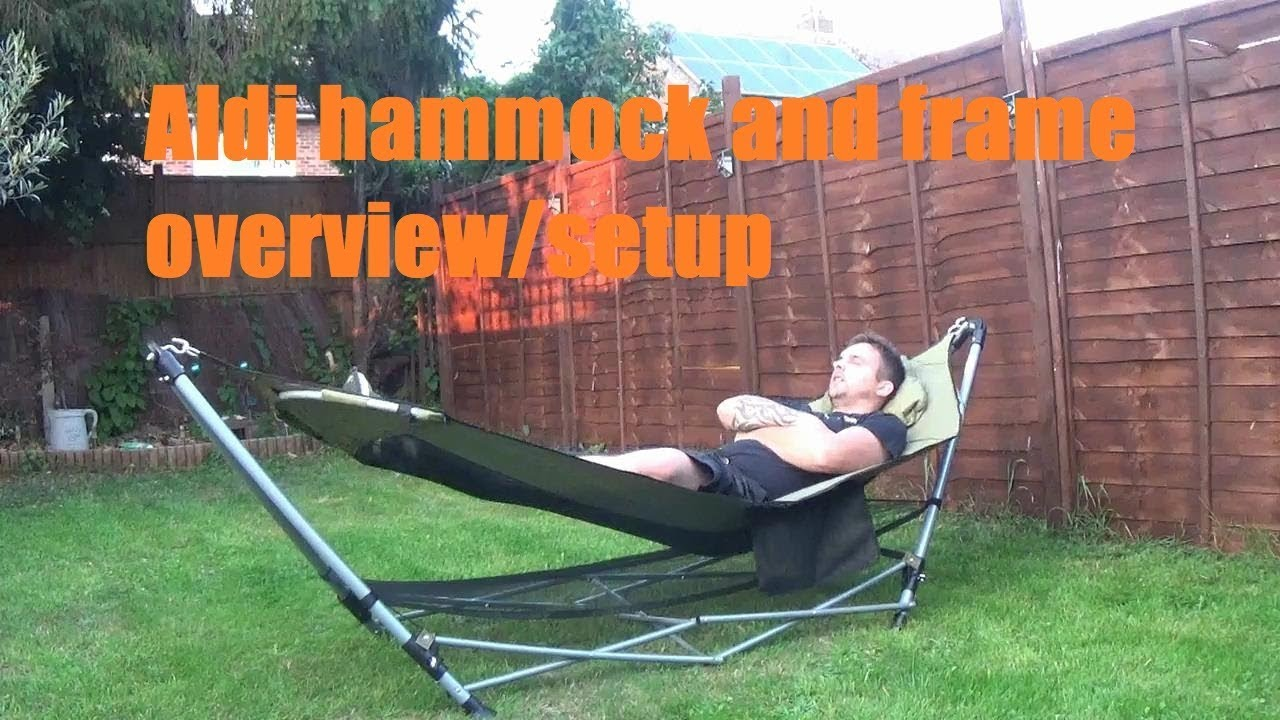 aldi hammock and frame  overview  aldi hammock and frame  overview    youtube  rh   youtube