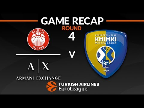 Highlights: AX Armani Exchange Olimpia Milan - Khimki Moscow region
