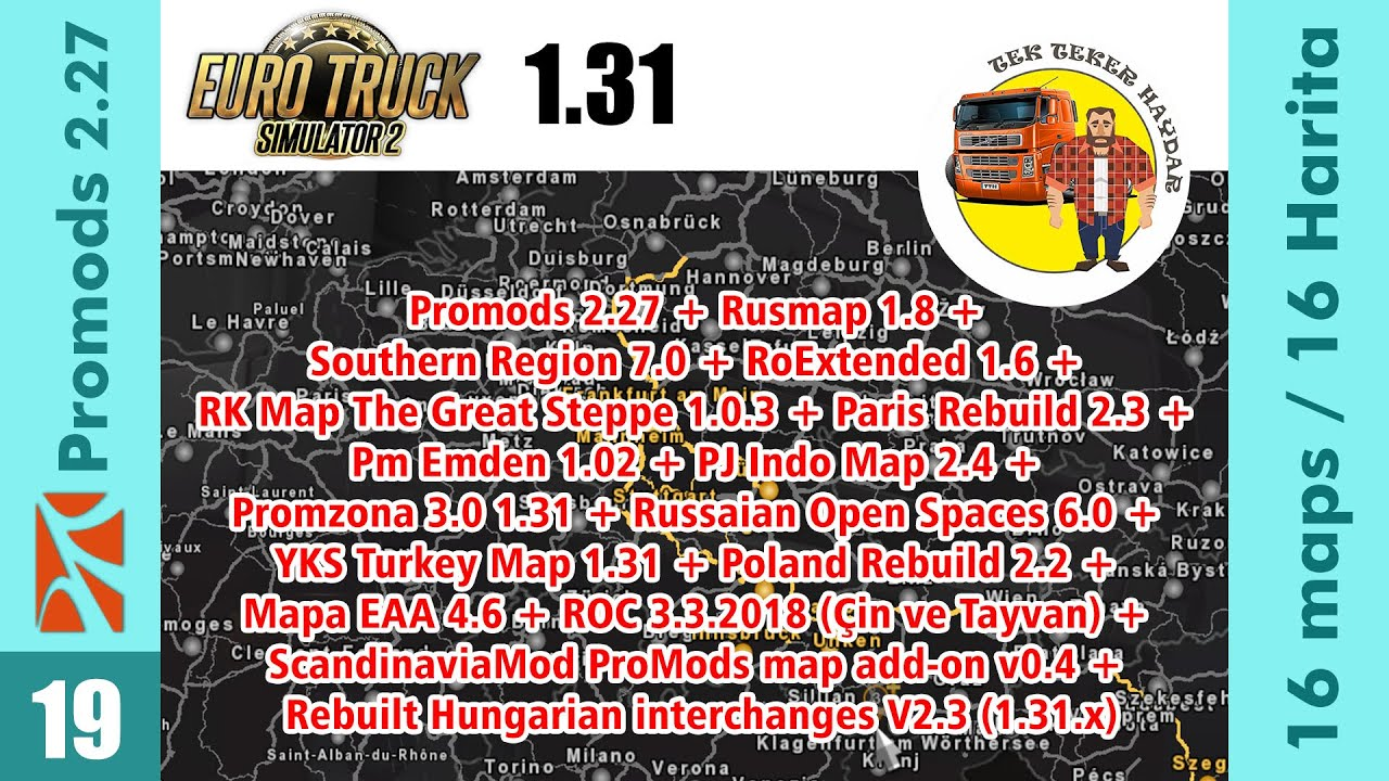 Download ETS2 1 31 - Promods, Rusmap, Southern Region, Roma