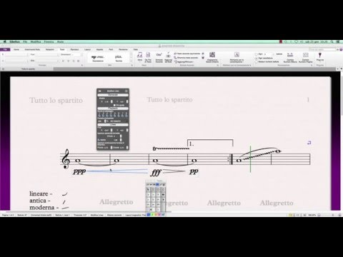 Sibelius 7 come impostare le dinamiche