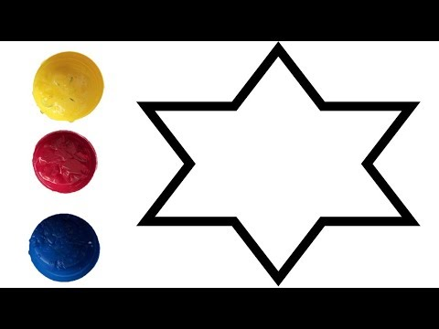 Coloring for kids to Learn colors for children Toddlers  babies - star coloring pages videos