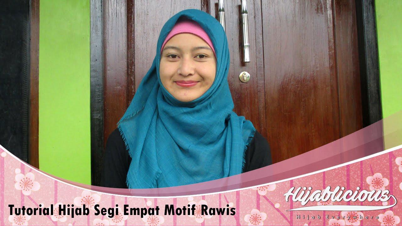 Gambar Tutorial Hijab Segi Empat Rawis | Tutorial Hijab