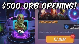 $500 Premium Orb Opening! - Quest For 5 Star Cable - Marvel Strike Force