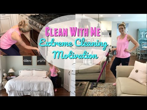 CLEAN WITH ME 2018 // EXTREME CLEANING MOTIVATION // ENTIRE HOUSE CLEAN WITH ME