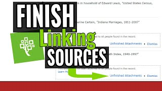 Finish Adding Sources to the FamilySearch Family Tree