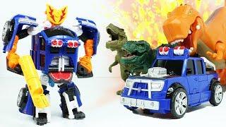 헬로카봇 럭키펀치 변신자동차 장난감 공룡 배틀 뽀로로 크롱을 구해줘! HelloCarbot Season6 Robot Toy LuckyPunch