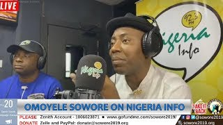 LIVE: Omoyele Sowore's interview at Nigeria Info FM, Port Harcourt. #TakeItBack