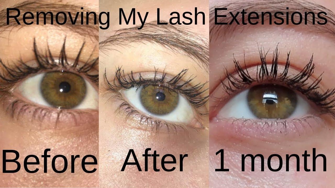 Removing My Eyelash Extensions (DAMAGE, REGROWTH ...