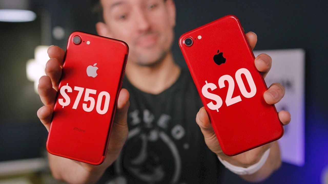 $20 RED iPhone Skin vs $750 RED iPhone 7