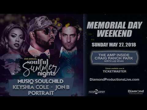 Soulful Summer Nights w/ Musiq Soulchild. Keyshia Cole, Jon B and Portrait