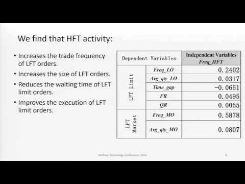 How Does High-Frequency Trading Affect Low-Frequency Trading?