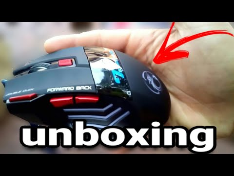 Unboxing Mouse Estone X7 Gaming - leds  br