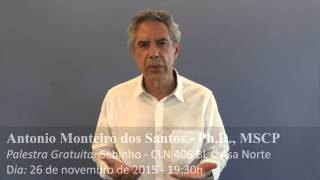 Palestra - Um Curso em Milagres - Brasília - Dia 26 de novembro de 2015