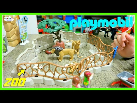 PLAYMOBIL Toy Sets - Zoo, Playground & Fire Department!!