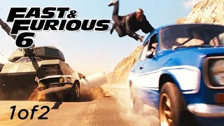 Tank Chase Scene 1of2 - FAST and FURIOUS 6 (Escort, Mustang, Charger, Tank) 1080p