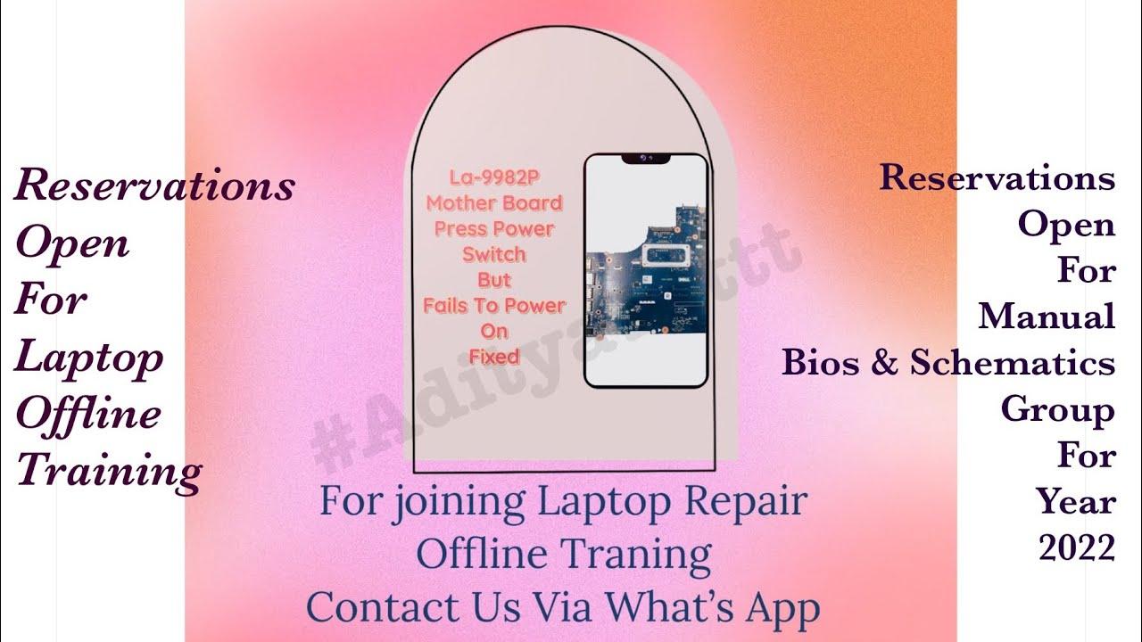 Laptoprepair How To Repair Dell No Power On Laptop By Satishbhai Circuit Diagram Hp Supply Schematic Battery Aditya11ttt