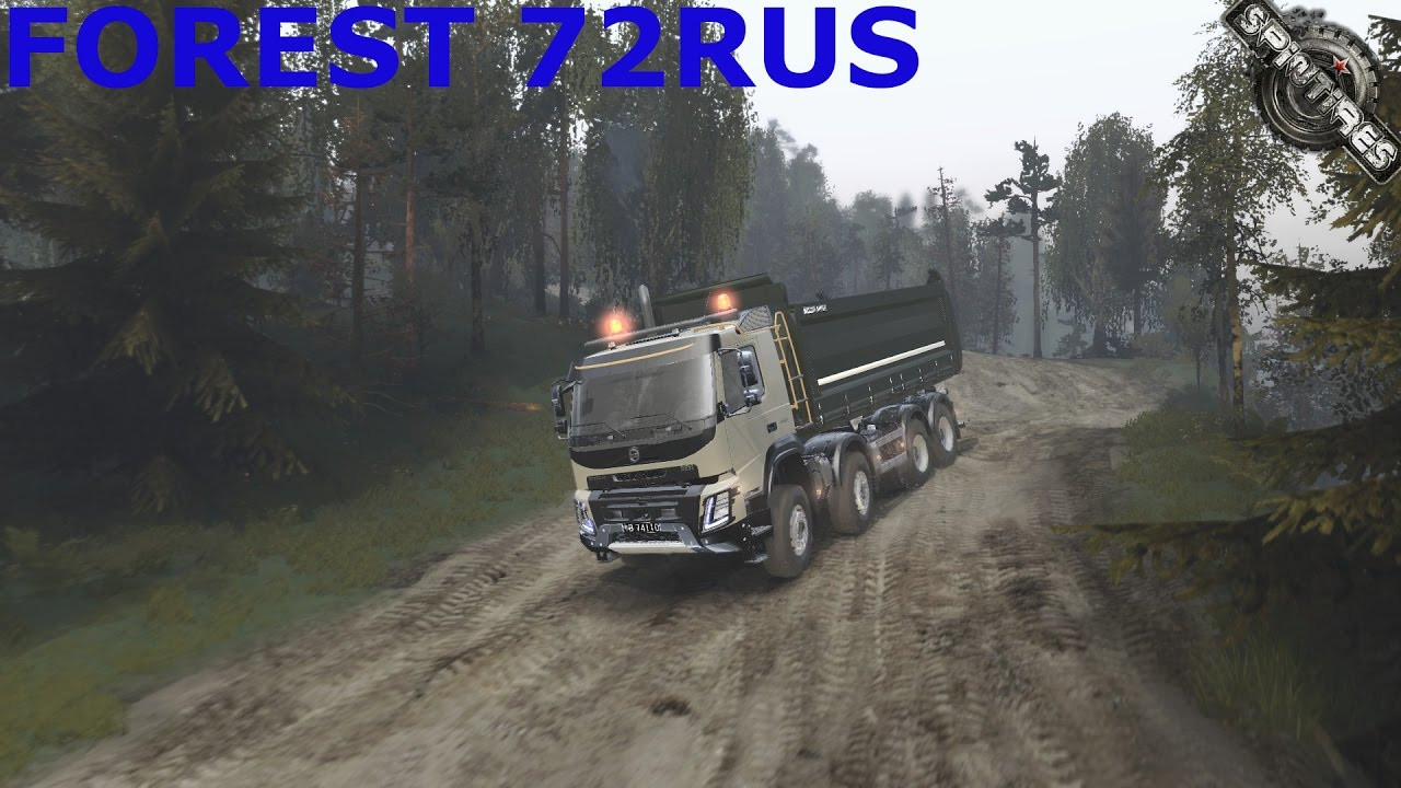 Spintires I Forest 72rus I Map Mod I Volvo Fmx2014 Dump I Pc Gameplay