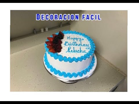 C mo decorar un pastel sencillo para hombre youtube for Como decorar un bizcocho