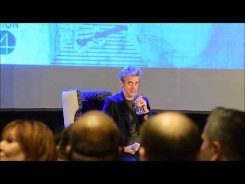 """Doctor Who - Peter Capaldi Hilariously Chokes On Water """"Nearly regenerated there"""""""