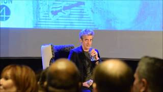 "Doctor Who - Peter Capaldi Hilariously Chokes On Water ""Nearly regenerated there"""