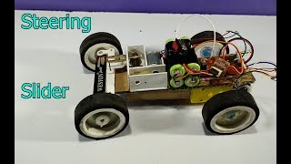 How to make a Powerful RC Car  Steering Slider (Mechanical Steering System)