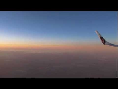 Frontier Airlines Republic EMB-190 Denver Approach and Landing HD