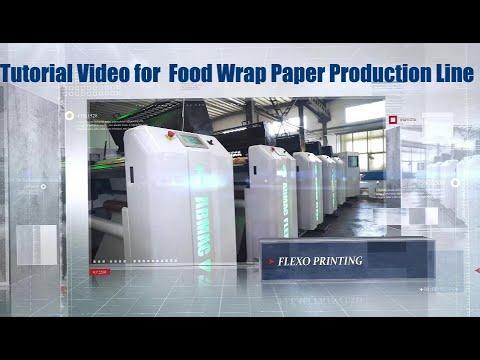 Video Tutorial untuk Talian Pengeluaran Kertas Pembungkus Makanan Flexopress Automatik Sepenuhnya
