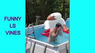 TRY NOT TO LAUGH -  swimming pool fails | Funny Video | Funny Vines