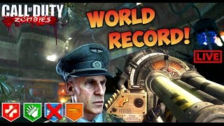 KINO DER TOTEN NO REVIVE WORLD RECORD ATTEMPT! - BLACK OPS ZOMBIES LIVE GAMEPLAY Bo1 Zombies